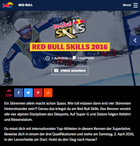 Gianni Hehli RedBull Skills Event Page